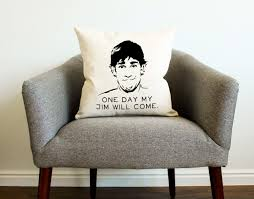 the office tv show jim halpert quote pillow home decor the