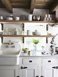 Shelf Above Kitchen Sink by Natural Modern Interiors Country Style Home Kitchen Sink
