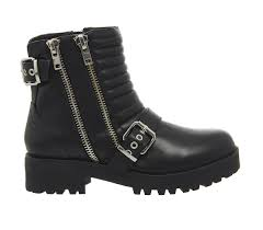 buckle biker boots office impact buckle biker boots black leather ankle boots