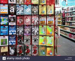 cvs prepaid cards prepaid card center display cvs drugstore usa stock photo