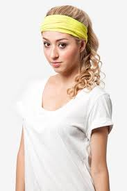 yellow headband neon yellow stretchy headband stretch headbands scarves