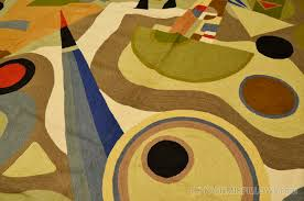Modern Wool Rugs Kandinsky 5ft X 7ft Composition Wool Rug Tapestry