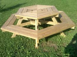 Picnic Table Plans Free Separate Benches by Attractive Wooden Picnic Tables Plans Free Tags Wood Picnic