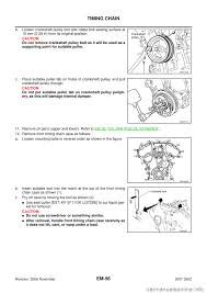 nissan maxima timing chain nissan 350z 2007 z33 engine mechanical workshop manual