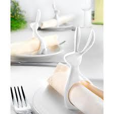 how to set a table with napkin rings buy napkin rings hare set of 6 online