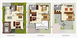 villa home plans house villa plans floor plan modern narrow style courtyards