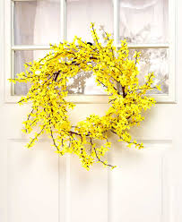 forsythia wreath the lakeside collection 26 forsythia wreath 190941056669 ebay