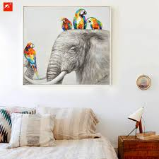 aliexpress com buy animal wall art elephant zebra abstract