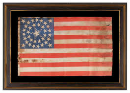 Painting A Flag Jeff Bridgman Antique Flags And Painted Furniture 36 Stars In A