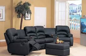 Small Leather Sectional Sofas Small Reclining Sectional Sofas Enchanting Small Leather Sectional