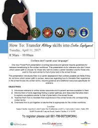 Military Skills To Put On A Resume How To Transfer Military Skills Into Civilian Employment