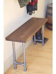 Industrial Bench Rustic Industrial Bench Pipe Leg Bench Wooden Bench Rustic