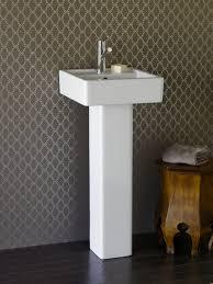 modern pedestal sinks for small bathrooms small contemporary pedestal sink classic contemporary pedestal