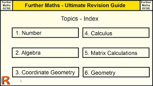 ultimate revision guide for further maths gcse index of indexs