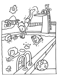 coloring pages for kids in the summer vacation season coloring