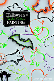 halloween cookie cutter painting u2014 all for the boys