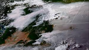 Canada Wildfire Satellite by Goes 16 Geocolor Imagery Of Smoke From Wildfires In British