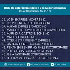 bureau int r here s the updated list of registered bureau of customs ph