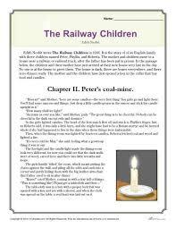 reading comprehension set the railway children