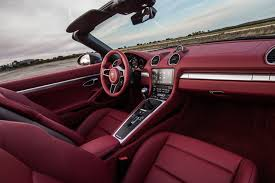 Porsche Cayenne Red Interior - 2017 porsche 718 boxster reviews and rating motor trend