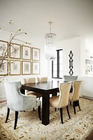 masculine wall art dining room transitional with framed artwork