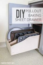 pantry storage idea for all of your bakeware not that i have this