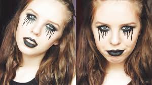 quick u0026 easy gothic halloween tutorial black bleeding eyes