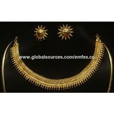 gold plated necklace wholesale images India gold plated choker necklaces maker gold plated choker jpg