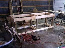 Workbench Designs For Garage Homemade Garage Workbench Cut 32