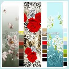 Polyester Flowers - flowers print100 polyester floral printed satin fabric disperse