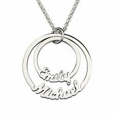 two name necklace disc name necklace with two names 925 sterling silver