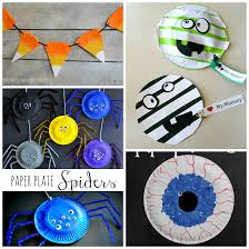 Paper Craft Decoration Ideas Paper Plate Halloween Crafts For Kids Crafty Morning
