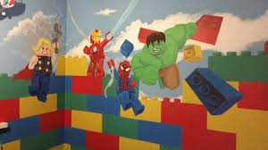 kids custom artwerk lego avengers room mural