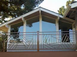 outdoor garden awesome wooden sunburst deck railing designs within