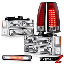1986 chevy c10 tail lights chevy 94 98 silverado ck 1500 2500 truck clear headls led red