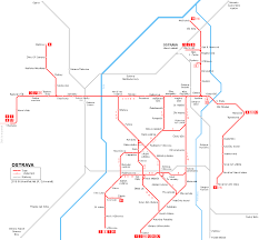 Prague Subway Map by Urbanrail Net U003e Europe U003e Czech Republic U003e Ostrava Tram