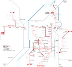 Prague Subway Map by Urbanrail Net U003e Europe U003e Czech Republic U003e Ostrava Tram