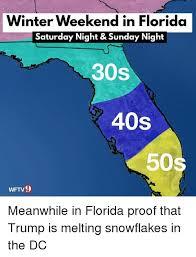 Florida Winter Meme - winter weekend in florida saturday night sunday night 30s 40s