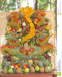 Fruit Decoration For New Year by Some Artworks Of Vietnam Artistic Fruit Carving Decoration