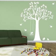 stickers arbre chambre b bébé pépinière arbre wall sticker oiseaux swing arbre stickers