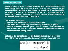 power factor for lighting load chapter 2 final circuit and load estimation ppt video online download