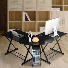 Schreibtisch F 2 Personen Amazon De Homfa Computertisch Computerschreibtisch Bürotisch