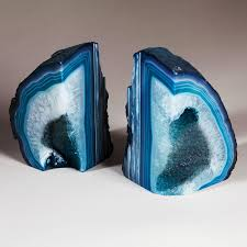agate home decor decor polished turquoise agate bookends for nice home accessories