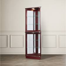 wayfair corner curio cabinet michelle lighted corner curio cabinet home furniture decoration