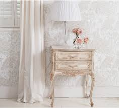 shabby chic side table delphine french bedside table white shabby chic bedside tables