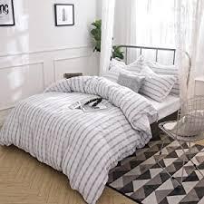 amazon com merryfeel 100 cotton yarn dyed duvet cover set full