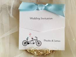 Tri Fold Invitations Tandem Bike Wedding Invitations