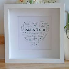personalised wedding gifts wedding anniversary gifts