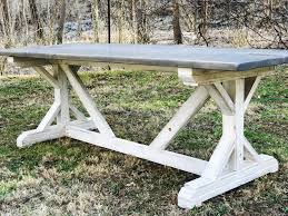 Ana White Picnic Table Ana White Fancy X Farmhouse Table Diy Projects