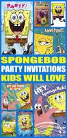 spongebob birthday cards free printable invitation design